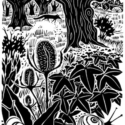 some linocuts from This Happy Spirit