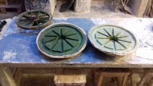 gel flex mould of the cart wheel
