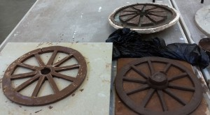 paperclay wheel casts in progress