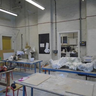 The sculpture workshop facilities at Teesside University