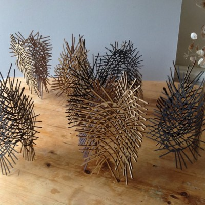 Preparation for DRAW at The Yarrow Gallery: Tensile Teasels