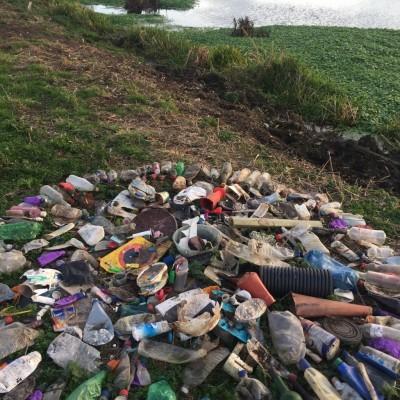 Uncertain Future- Litter Art
