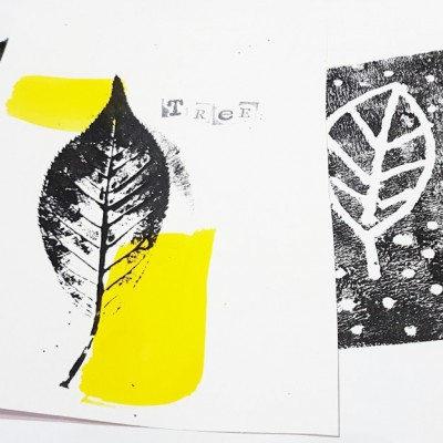 Mono and relief printing  pre-school workshop